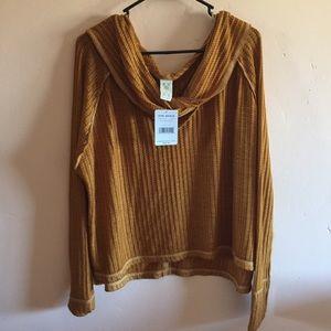 Free People Burnt Orange Sweater NWT